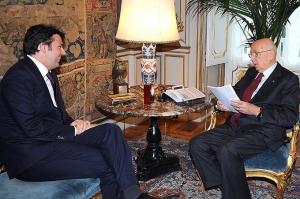 Pd: Renzi al Quirinale a colloquio con Napolitano